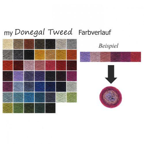 myDonegal Tweed Farbverlauf handgemacht für Sie