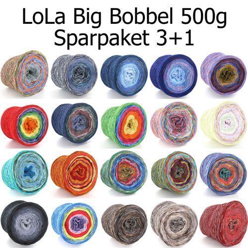 LoLa Big Bobbel 500g 4fach 3+1 Sparpaket