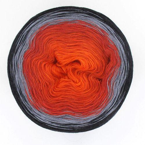 JoJo Farbverlaufsgarn Merinowolle orange night