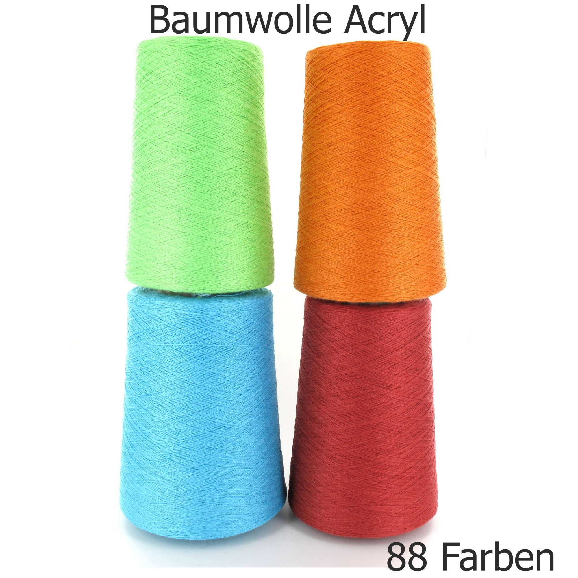 50/% Baumwolle 50/% Polyacryl • NEON GELB • 30//2 • Strickmaschine Häkeln Garn Kone