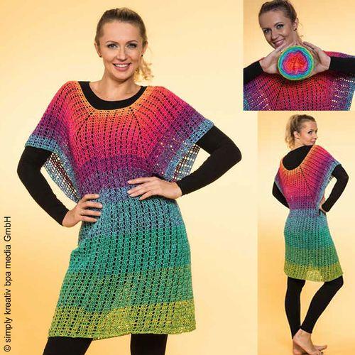 "GarnSet aus ""Simply Kreativ Häkeln vol. 1"" ID 5819: LoLa 5fach RVO Kleid Farbrausch"