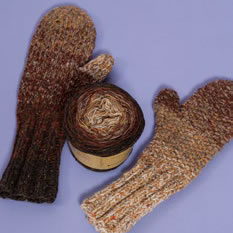 "GarnSet aus ""Simply Kreativ Stricken Vol. 3"" ID 5933: Donegal Tweed 4fach Herrenhandschuhe"