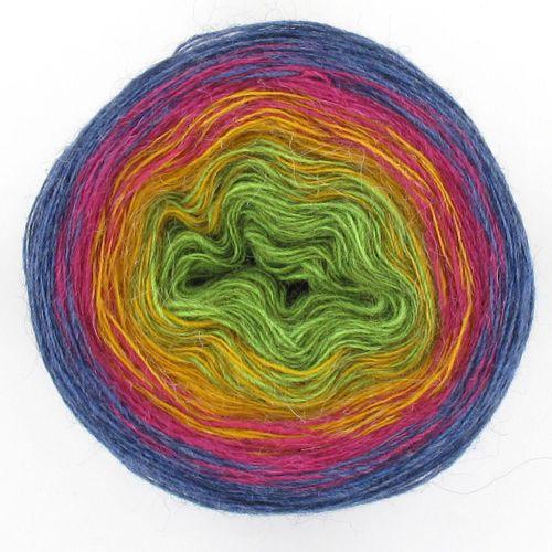 Maya Alpaca Wolle handgewickelt im Farbverlauf 968
