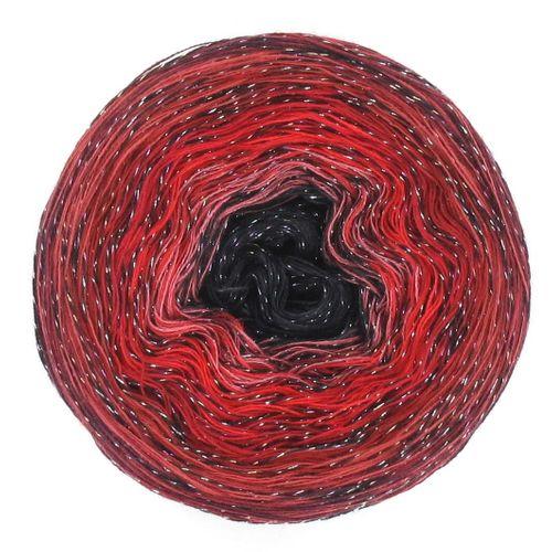 LoLa Farbverlaufsgarn Bobbel Black Beauty red