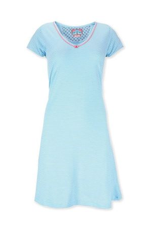 PiP Studio Djoy Stripe Nightdress short sleeve blue/white – Bild 1
