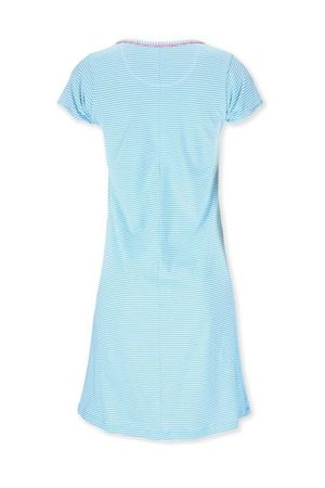 PiP Studio Djoy Stripe Nightdress short sleeve blue/white – Bild 2