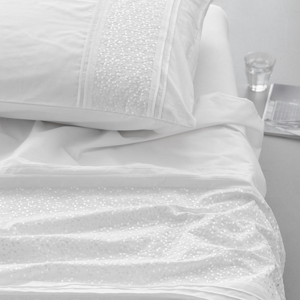 Essenza Bettwäsche Aylin White Gestickt Klassisch Schlicht Weiß