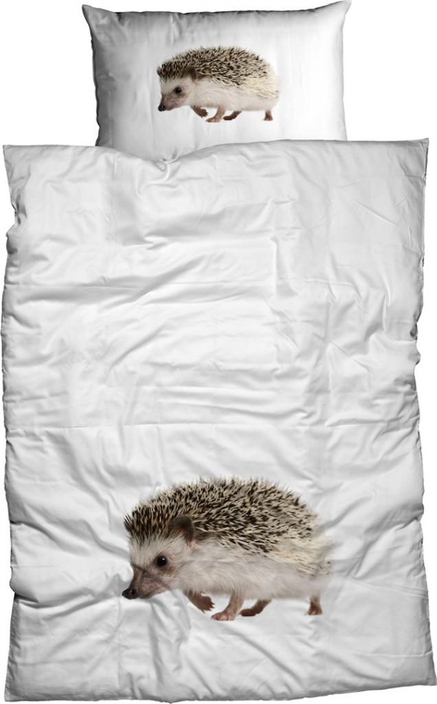 casatex bettw sche igel wei braun baumwolle renforc. Black Bedroom Furniture Sets. Home Design Ideas