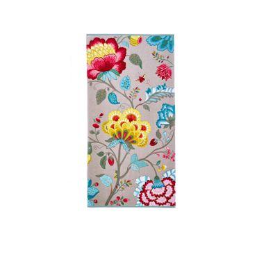 Pip Studio Duschtuch Floral Fantasy Khaki 70x140 cm – Bild 1
