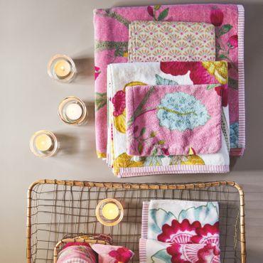 Pip Studio Floral Duschtuch Fantasy Pink 70x140 cm – Bild 4