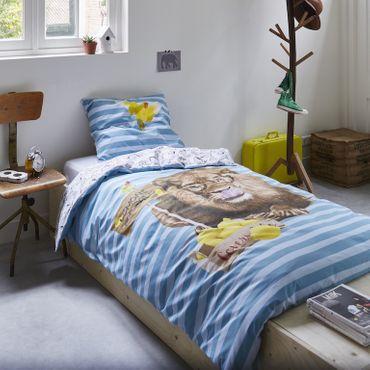 Covers&Co Renforcé Bettwäsche Lemon Lion blue – Bild 2