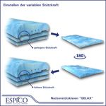 ESPiCO Gelax Gelschaum Seitenschläfer Rückenschläfer Nacken Kopfkissen