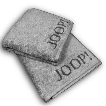 JOOP! Handtücher Elegance Doubleface hellgrau dunkelgrau 1620 77 – Bild 4