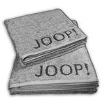 JOOP! Handtücher Duschtuch Elegance Doubleface hellgrau dunkelgrau