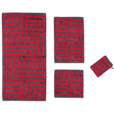 Cawö Handtücher Noblesse Graphic 1069 27 rot – Bild 1