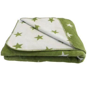 Wohndecke Denver Stars Green Offwhite 150x200 cm
