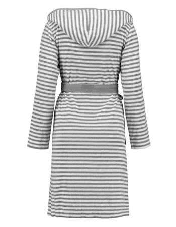 ESPRIT Bademantel Striped Grey mit Kapuze – Bild 2