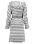 ESPRIT Bademantel Striped Hoodie grey