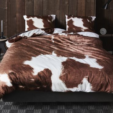 Essenza Bettwäsche Cow brown Satin – Bild 2