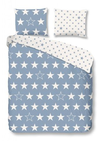 good morning Bettwäsche Stars 5263 blue Flanell – Bild 1