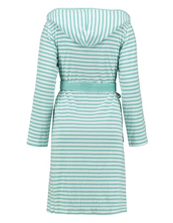 ESPRIT Bademantel Striped Mint mit Kapuze – Bild 2