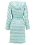 ESPRIT Bademantel Striped mint mit Kapuze