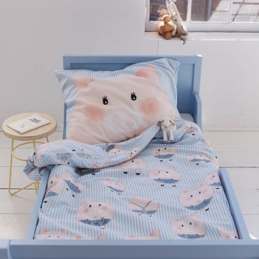 Covers & Co Bettwäsche Piggy blue Renforcé – Bild 3