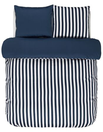 Marc O'Polo Bettwäsche Classic Stripe indigo blue Satin – Bild 1