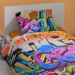 Good Morning Bettwäsche 5481 Graffiti Multi Bunt Spraydose Farbe