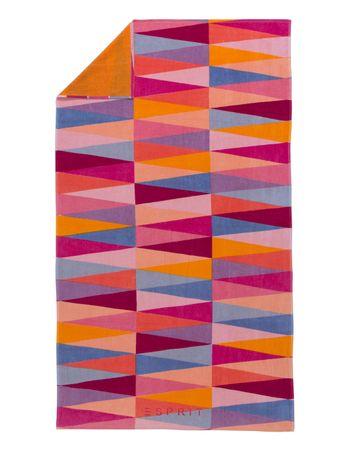 ESPRIT Strandlaken Pyramid pink 100x180 cm