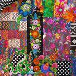 Essenza Bettwäsche Noida Multi Satin Patchwork Digitaldruck Bunt Floral Blumen Geblümt