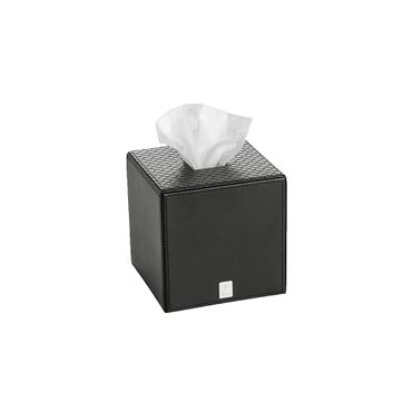 JOOP! Bathline Papiertuchbox quadratisch Lederoptik schwarz