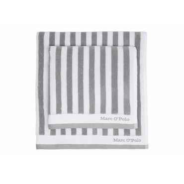 Marc O'Polo Handtücher Classic Stripe grey white – Bild 2