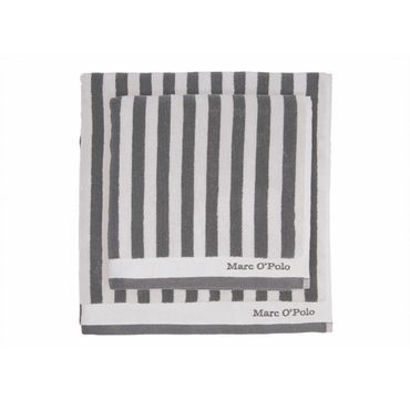 Marc O'Polo Handtücher Classic Stripe anthracite silver – Bild 2
