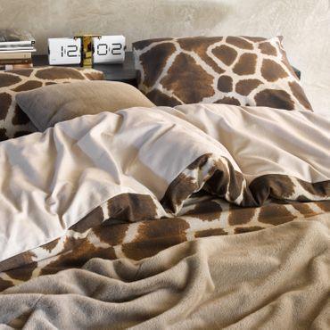 Essenza Bettwäsche Giraffe brown Flanell – Bild 5