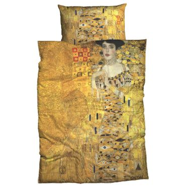 Gustav Klimt Bettwäsche Adele Bloch Gold Satin