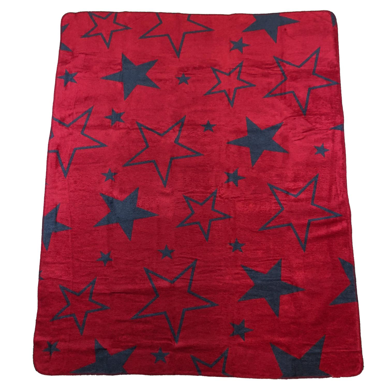 Wohndecke Big Star 8020 Anthrazit Rot 150x200 Cm