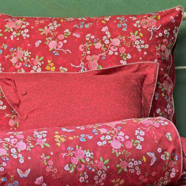PiP Studio Perkal Bettwäsche Chinese Rose Bouquet Red – Bild 4