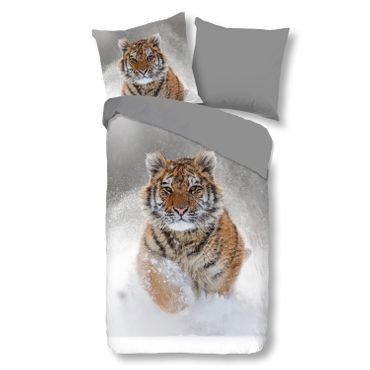 good morning Bettwäsche 2052 Snow Tiger grey – Bild 1