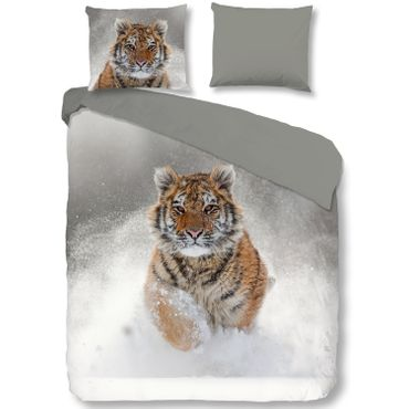 good morning Bettwäsche 2052 Snow Tiger grey – Bild 2
