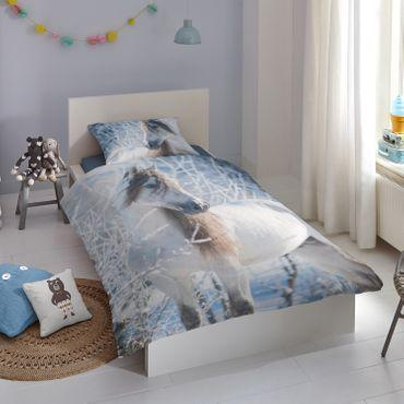 Good Morning Bettwäsche 2416 White Horse Multi Flanell – Bild 2