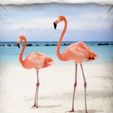 Schwanberg Bettwäsche Flamingo Rosa Renforcé  – Bild 2