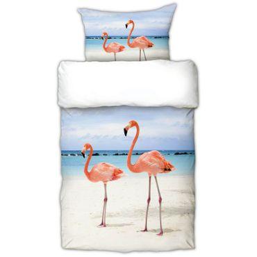 Schwanberg Bettwäsche Flamingo Rosa Renforcé  – Bild 1