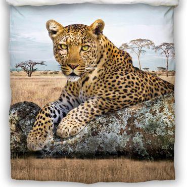 Schwanberg Bettwäsche Leopard Bunt Renforcé – Bild 3
