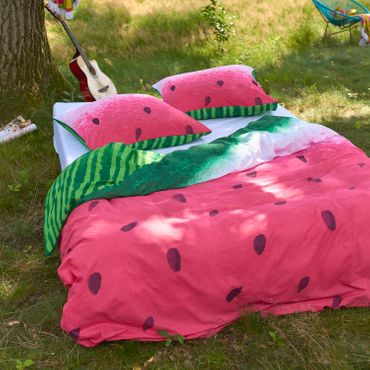 Cover & Co Bettwäsche Watermelon Pink Renforcé – Bild 5