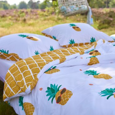 Covers & Co Bettwäsche Pineapple Yellow Renforcé – Bild 3