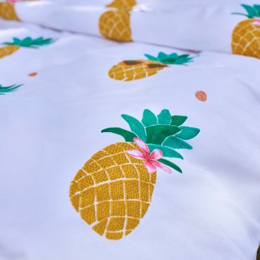 Covers & Co Bettwäsche Pineapple Yellow Renforcé – Bild 5