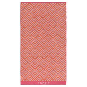 ESPRIT Jacquard Strandlaken Zora Pink 100x180 cm – Bild 1