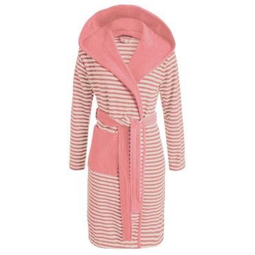 ESPRIT Bademantel Striped Dusty Pink mit Kapuze – Bild 1