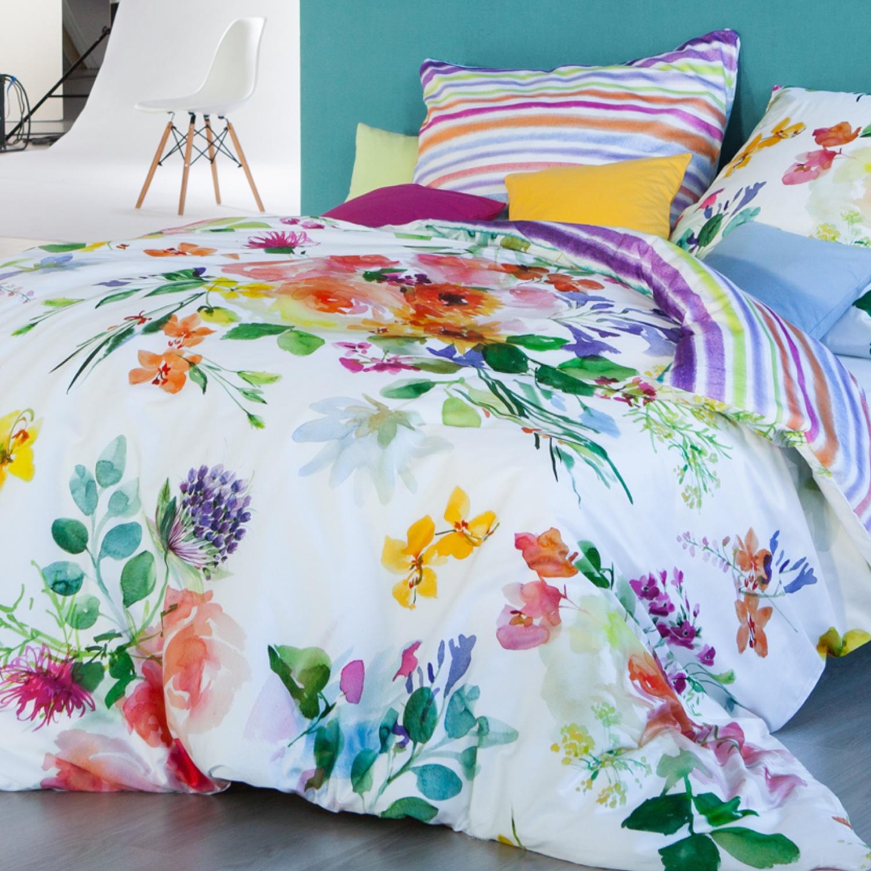 estella bettw sche flower power 4714 multi mako satin. Black Bedroom Furniture Sets. Home Design Ideas
